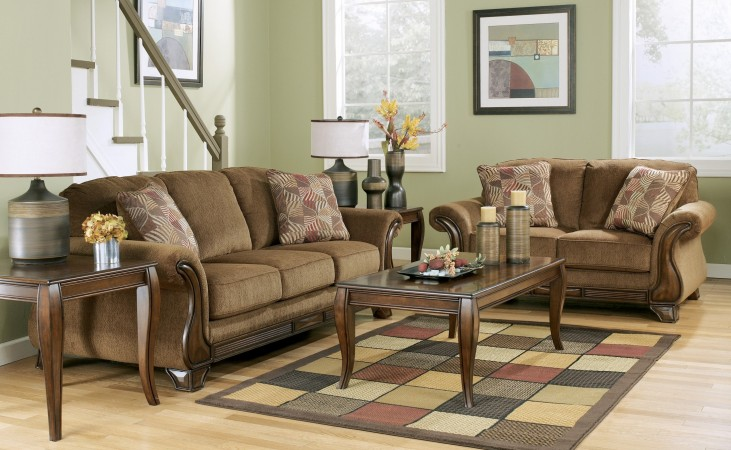 Montgomery Mocha Living Room Set