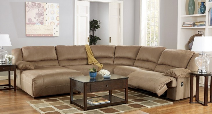 Hogan Mocha Left Chaise Reclining Sectional