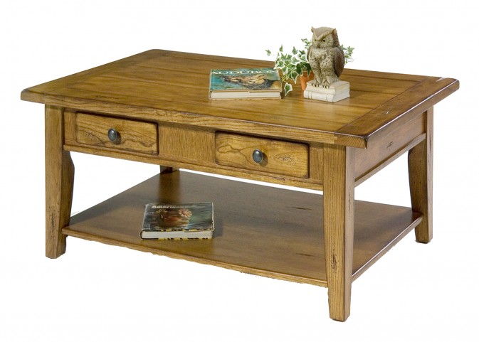 Treasures Oak Rectangular Cocktail Table