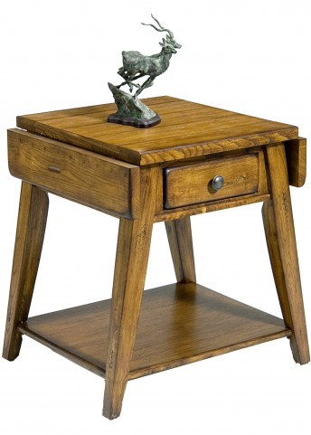 Treasures Oak Splay Leg End Table