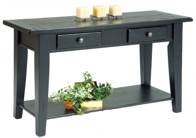 Treasures Black Sofa Table