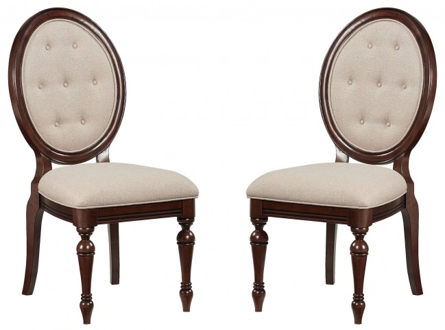 Carrington Chestnut Brown Upholstered Side Chair Set of 2
