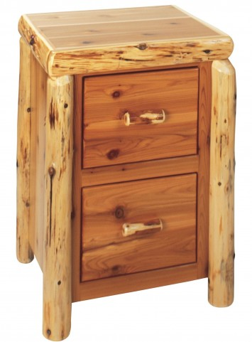 Cedar 2 Drawer File Cabinet