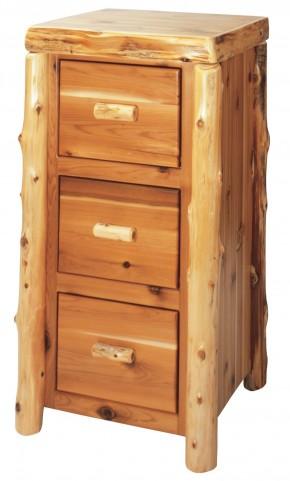 Cedar 3 Drawer File Cabinet