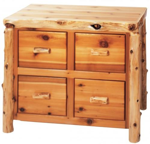 Cedar 4 Drawer File Cabinet