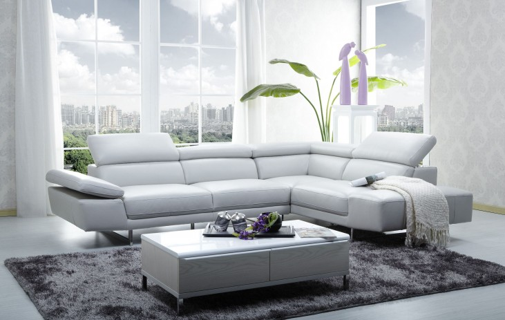 1717 Italian Leather RAF Sectional