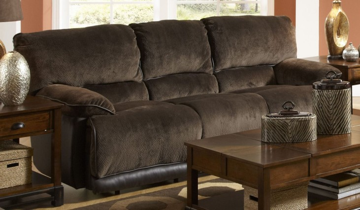 Escalade Chocolate Power Reclining Sofa