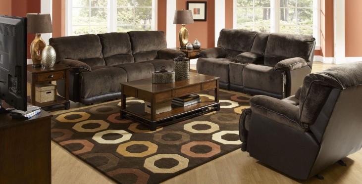 Escalade Chocolate Power Reclining Living Room Set