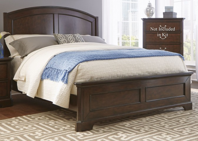 Avington Dark Cognac King Panel Bed