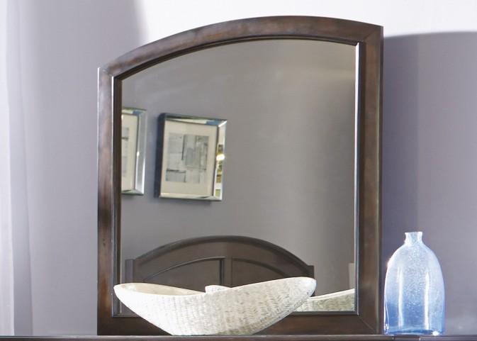 Avington Dark Cognac Landscape Mirror