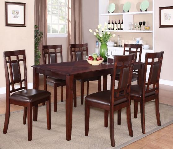 Westlake Rich Golden Brown 7 Piece Dining Room Set