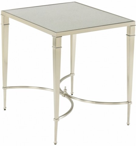 Mallory Satin Nickel Rectangular End Table