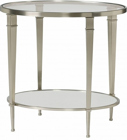 Mallory Satin Nickel Oval End Table