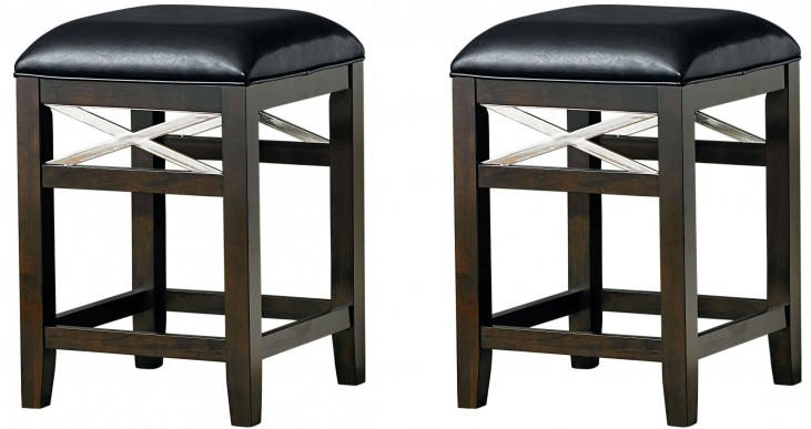 Alexander Dark Brown Espresso Barstool set of 2