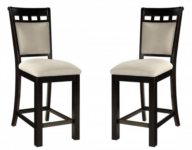 Gateway Brown and White Upholstered Seat Barstool Set of 2