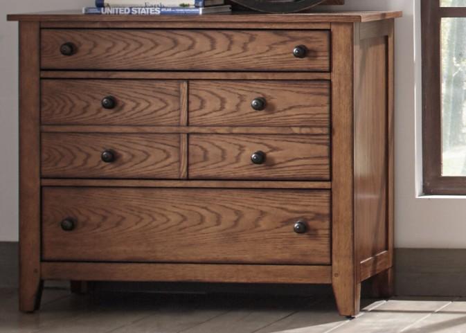 Grandpa's Cabin Aged Oak 3 Drawer Dresser