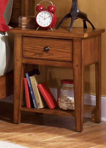 Grandpa's Cabin Aged Oak Nightstand