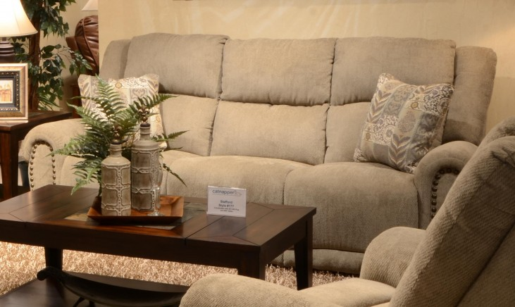 Stafford Platinum Reclining Sofa