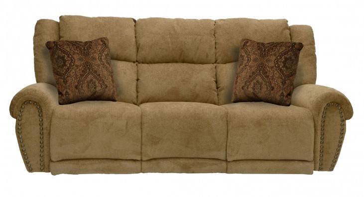 Stafford Caramel Power Reclining Sofa