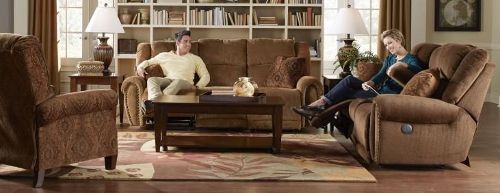Stafford Tobacco Power Reclining Living Room Set