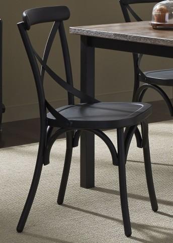 Vintage Black X Back Side Chair Set of 2