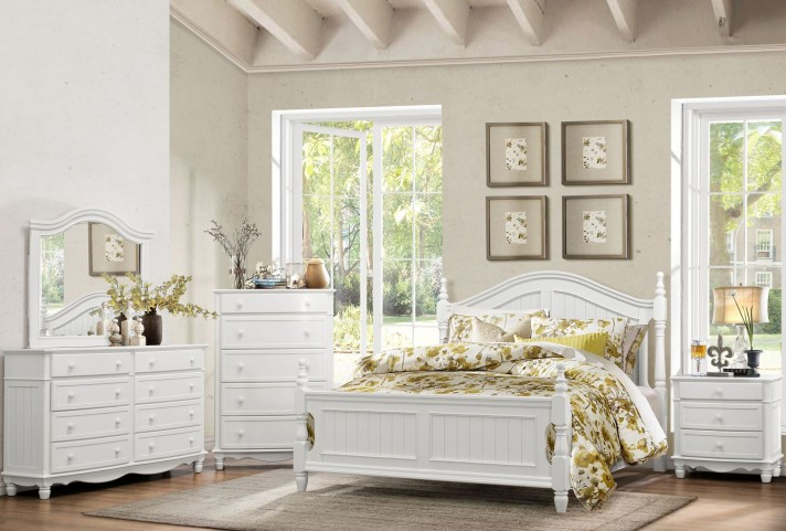 Clementine White Postal Bedroom Set