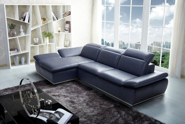 1799 Italian Modern Leather LAF Sectional