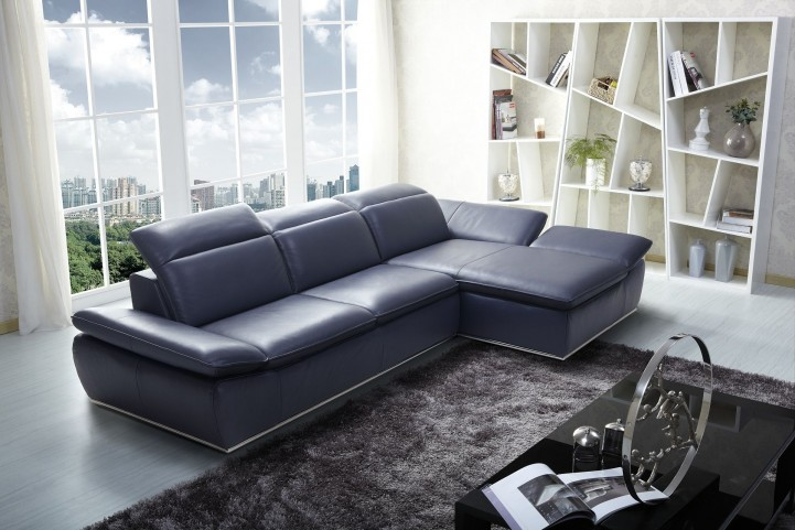 1799 Italian Modern Leather RAF Sectional