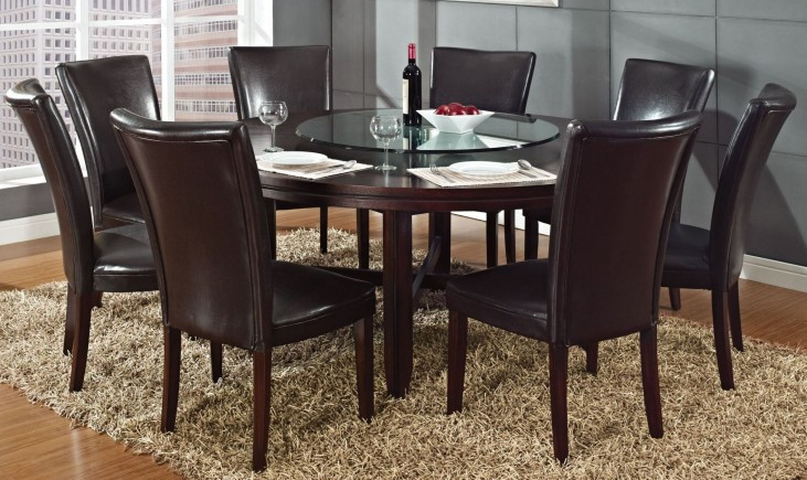 "Hartford Dark Oak 72""Round Dining Room Set"