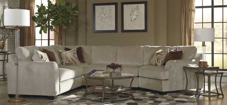 Hazes Fleece RAF Cuddler Loveseat Sectional