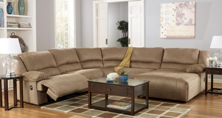 Hogan Mocha Right Chaise Reclining Sectional