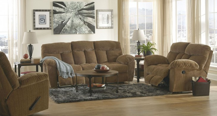 Hector Caramel Reclining Living Room Set
