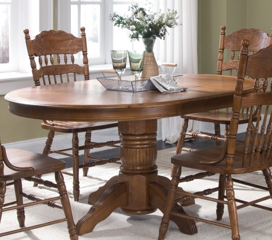 Old World Pedestal Table