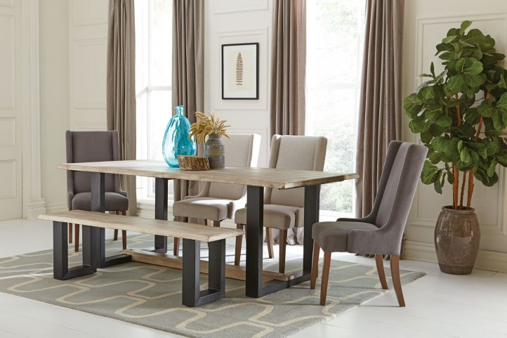 Levine Weathered Grey Dining Room Set