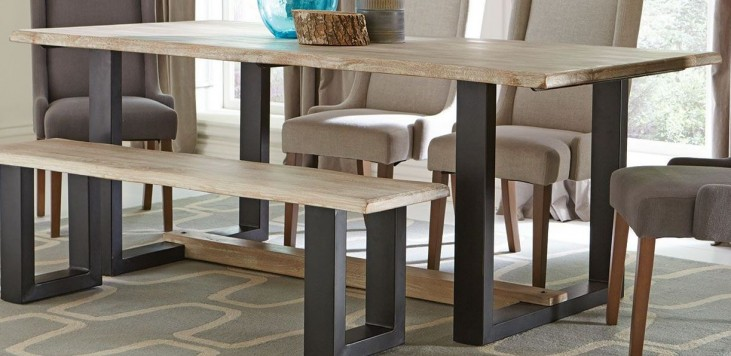 Levine Weathered Grey Dining Table