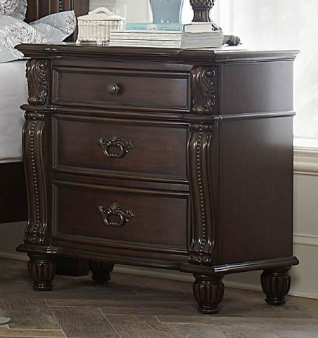 Hadley Row Dark Cherry Nightstand