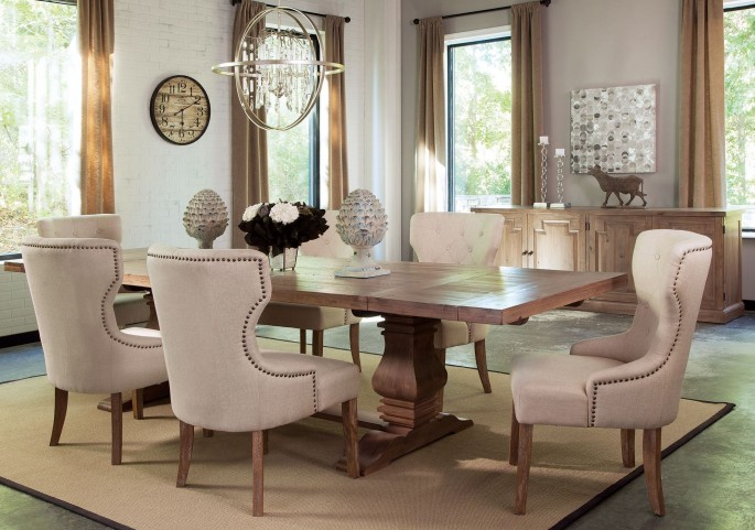 Florence Warm Natural Extendable Rectangular Dining Room Set by Donny Osmond