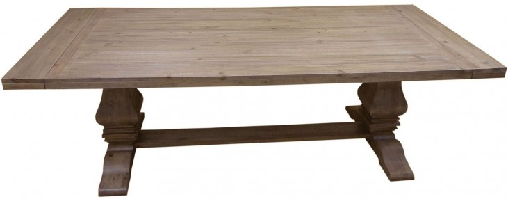 Florence Warm Natural Extendable Rectangular Dining Table by Donny Osmond