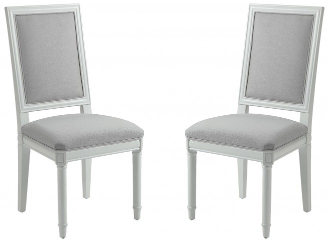 White Side Chair by Donny Osmond Set of 2
