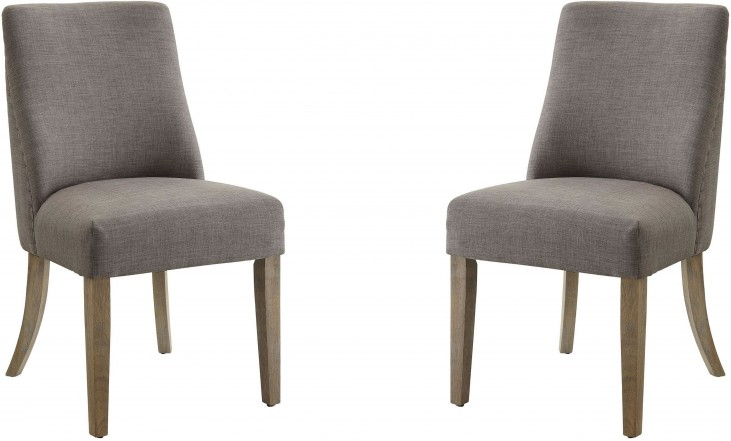 Gray Side Chair Set of 2