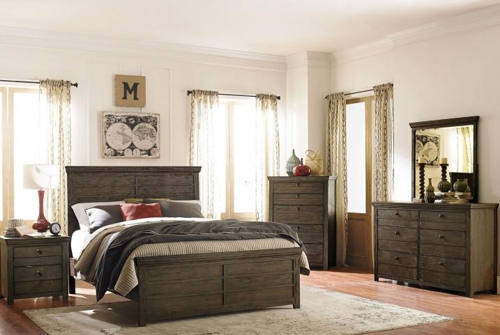 Hardwin Rustic Brown Youth Panel Bedroom Set