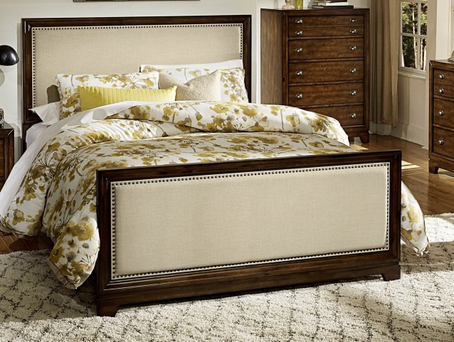 Bernal Heights Warm Cherry Queen Panel Bed