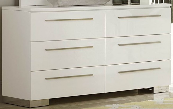 Linnea White High Gloss Dresser