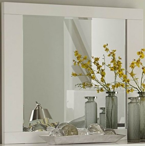 Linnea White High Gloss Mirror
