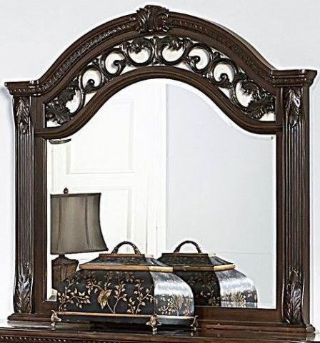 Augustine Court Brown Cherry Mirror
