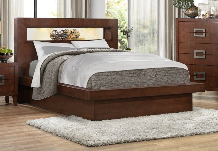 Arata Brown King Platform Bed