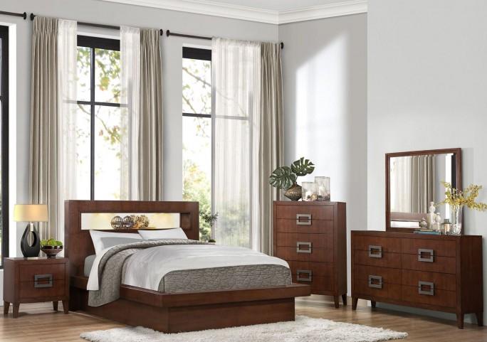 Arata Brown Platform Bedroom Set