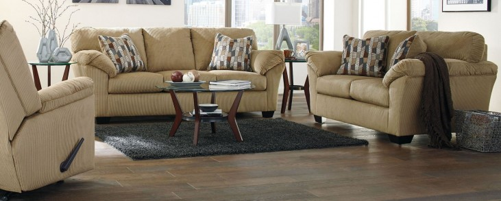 Aluria Mocha Living Room Set