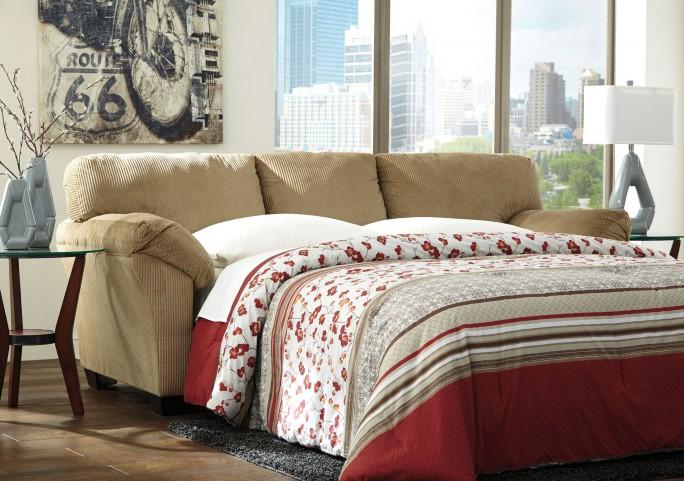 Aluria Mocha Queen Sofa Sleeper