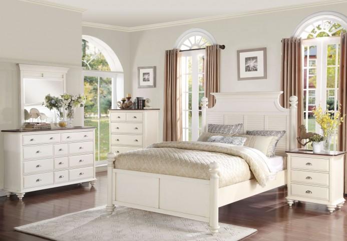 Floresville Antique White Platform Bedroom Set
